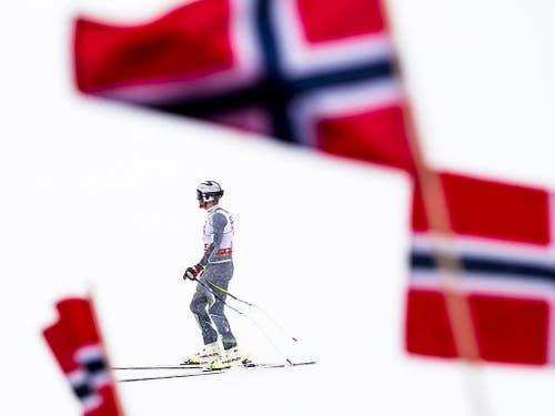Die Abfahrt der Männer - Norwegisches Festspiel (Bild: KEYSTONE/JEAN-CHRISTOPHE BOTT)
