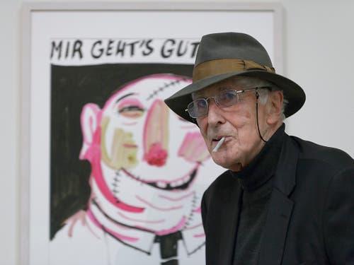 Der französische Künstler und Buchillustrator Tomi Ungerer ist 87-jährig gestorben. (Bild: KEYSTONE/ANTHONY ANEX)