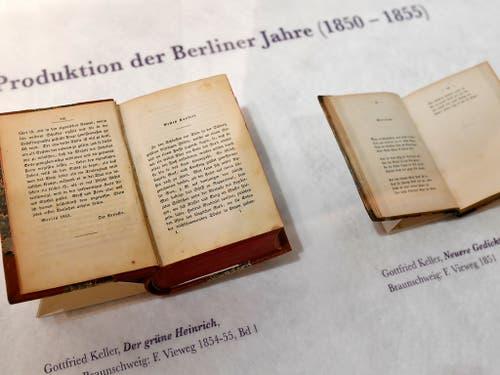 Zählt zu Gottfried Kellers bekanntesten Werken: «Der grüne Heinrich». (KEYSTONE/Walter Bieri) (Bild: KEYSTONE/WALTER BIERI)
