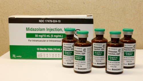 Das Medikament Midazolam wirkt in normaler Dosis eingesetzt schlaffördernd. Als Ersatzmittel für ein anderes Produkt wurde es bei Hinrichtungen schon vielfach eingesetzt. (Bild: Keystone)