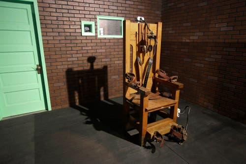 Ein elektrischer Stuhl im Gefängnismuseum von Huntsville, Texas. In diversen US-Bundesstaaten werden Straftäter immer noch auf dem elektrischen Stuhl hingerichtet. (Bild: Keystone)