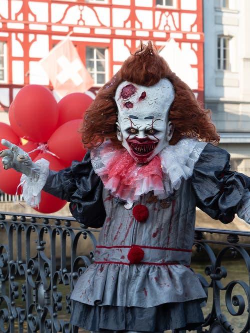 Ein ziemlich unheimlicher Clown. (Bild: Theres Nussbaumer, 28. Februar 2019)