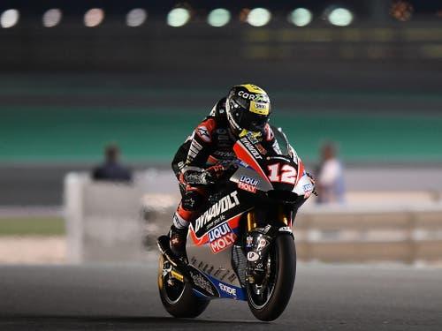 Zurück in der Moto2 und zurück auf dem Podest: Tom Lüthi (Bild: KEYSTONE/EPA/NOUSHAD THEKKAYIL)