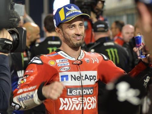 Wie im Vorjahr auf dem Circuit in Katar siegreich: der Italiener Andrea Dovizioso (Bild: KEYSTONE/EPA/NOUSHAD THEKKAYIL)