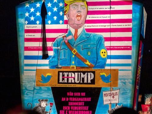 Weltpolitik beschäftigt auch die lokale Fasnacht am Rheinknie. US-Präsident Donald Trump gibt auch heuer wieder allerhand Verse und Bilder her. (Bild: KEYSTONE/GEORGIOS KEFALAS)