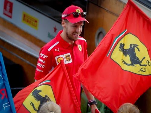 Sebastian Vettel will mit Ferrari endlich Weltmeister werden (Bild: KEYSTONE/EPA/DIEGO AZUBEL)
