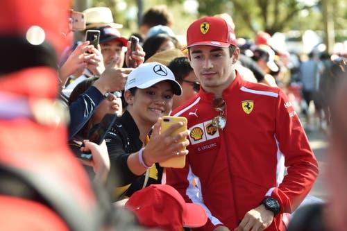 Charles Leclerc (MON, 21), Ferrari. 21 Starts, 0 Siege, 39 WM-Punkte. (Bild: James Ross/Epa (Melbourne, 14. März 2019))