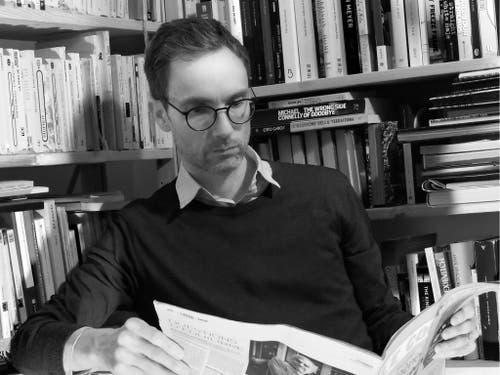 Leitet seit 2008 das Feuilleton der Westschweizer Zeitung «Le Courrier»: Samuel Schellenberg. (Bild BAK) (Bild: BAK)