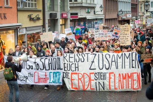 Klimastreik Demo in der St. Galler Innenstadt © Urs Bucher/TAGBLATT
