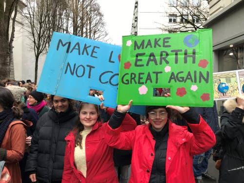 Demonstration gegen den Klimawandel in der Stadt Luzern. (Bild: Luzerner Zeitung, Luzern, 15. März 2019)
