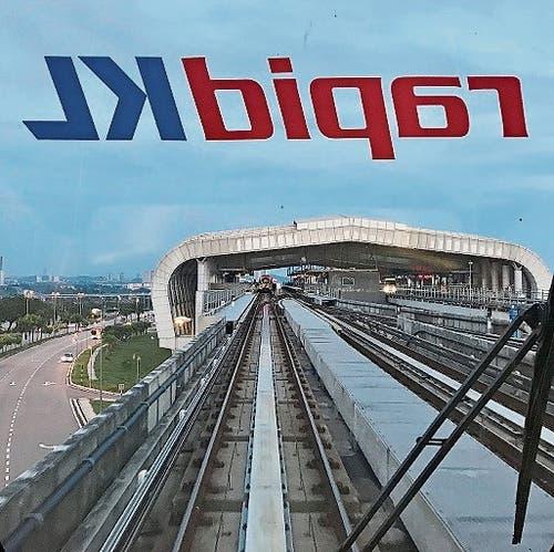 Eine führerlose Bahn in der malaysischen Hauptstadt Kuala Lumpur.