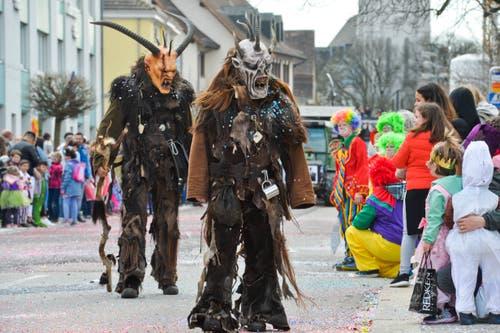 Die grausigen Gesellen aus der Partnerstadt Radolfszell sehen schon etwas gefürchig aus. (Bilder: Donato Caspari)