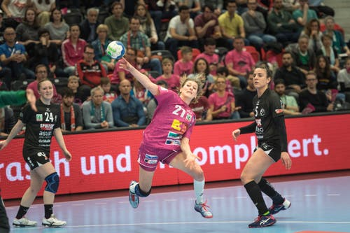 Gianna Calchini von Spono Eagles ist die beste Spielerin der Partie. (Bild: Roger Grütter, Muri bei Bern, 17. März 2019)