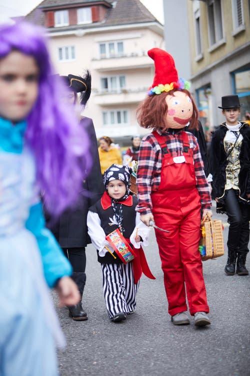 Am Kinder-Fasnachtsumzug in Kriens. (Bild: Jakob Ineichen, 2. März 2019)
