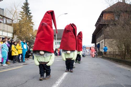 Am Fasnachtsumzug in Schachen: Gruppe Blaff aus Schwarzenberg (Motto: Zwerge) (Bild: Manuela Jans-Koch, 2. März 2019)