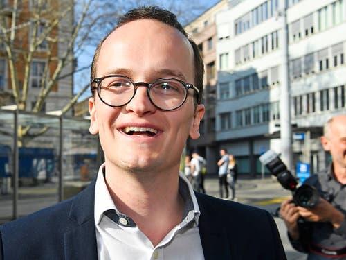 «Das Thema Klima gab wohl den Ausschlag»: der Grüne Regierungsrat Martin Neukom kann sein Glück noch gar nicht fassen. (Bild: KEYSTONE/WALTER BIERI)