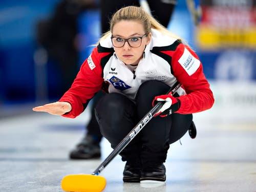 Alina Pätz - Erfolgsgarantin im Schweizer Frauencurling (Bild: KEYSTONE/EPA RITZAU SCANPIX/HENNING BAGGER)