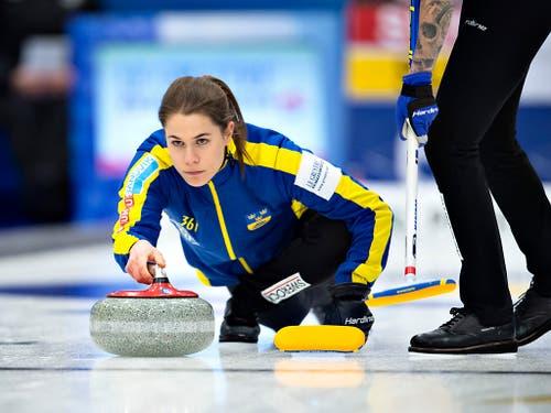 Schwedens Skip Anna Hasselborg ist die derzeit erfolgreichste Curlerin (Bild: KEYSTONE/AP Ritzau Scanpix/HENNING BAGGER)