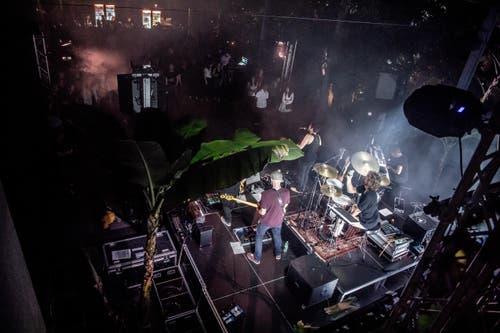Blick auf die Bühne beim Winterfestival. (Bild: Nadia Schärli, Wolhusen, 23. März 2019)