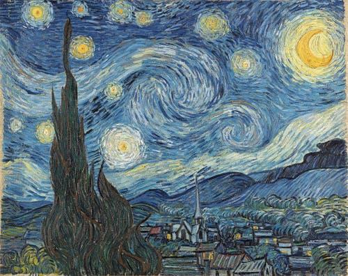 Vincent van Gogh, Sternennacht, 1889, Öl auf Leinwand (Bridgeman Images)