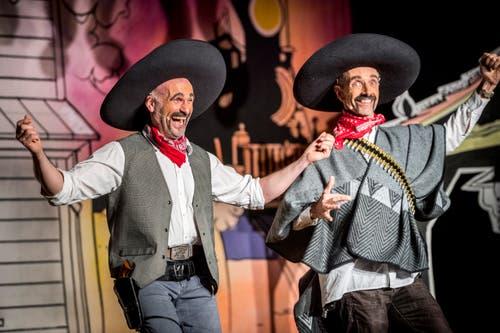 Zwei der glorreichen Drei: Gringos Beat Brändli und Daniel Kirner. (Bild: Andrea Stalder)