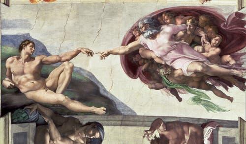 Michelangelo, «Die Erschaffung Adams», 1508-1512, Fresko (Bridgeman Images)