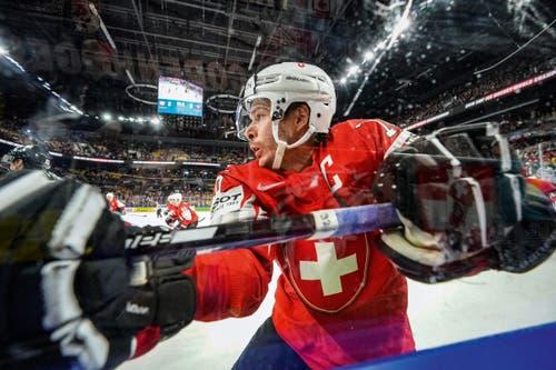 3. Preis Sport: Raphael Diaz während dem Match Schweiz-Kanada. (Bild: Andy Müller / Freshfocus, Kopenhagen, 19. Mai 2018)