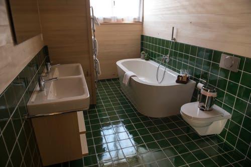 Badezimmer in der Suite.