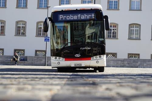 Vor allem die Anwohner rund um den Gallusplatz freuen sich besonders auf den geräuscharmen Bus.