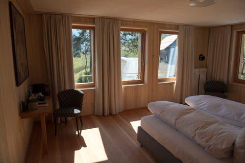 Blick in ein Doppelzimmer.