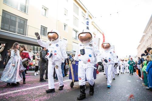 Astronauten in Emmen. (Bild: Manuela Jans-Koch, Emmen, 3. März 2019)