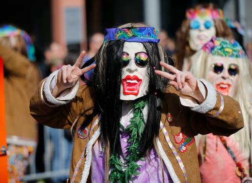 Hippies in allen erdenklichen Farben. (Bild: Stefan Kaiser, Cham, 3. März 2019)