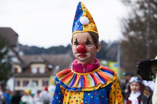 Ein ernster Clown in Altishofen. (Bild: Jakob Ineichen, Altishofen, 3. März 2019)