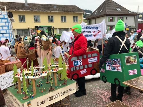 Gäste aus Mogelsberg in Degersheim: 10000 Besucher des Baumwipfelspfads – aber was ist mit den Parkplätzen?
