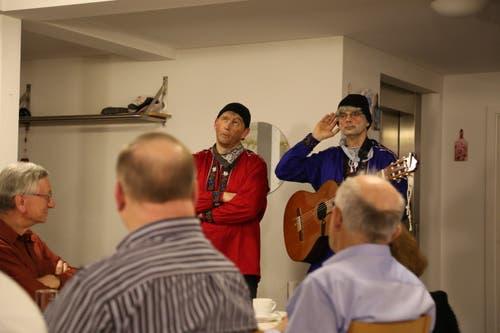 """Sepp und Fridolin"""" im Restaurant Ochsen, Goldach (Bild: Martin Rechsteiner)"""