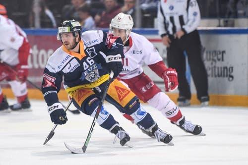Lino Martschini im Spiel gegen den HC Lausanne. (Bild: Claudio Thoma/freshfocus, 30. März 2019)
