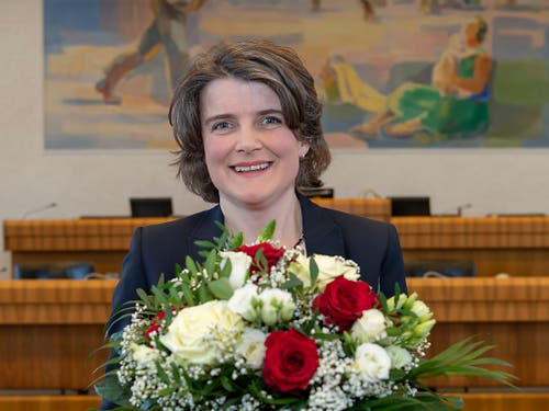 Die neu gewählte Baselbieter Regierungsrätin Kathrin Schweizer (SP). (Bild: KEYSTONE/GEORGIOS KEFALAS)