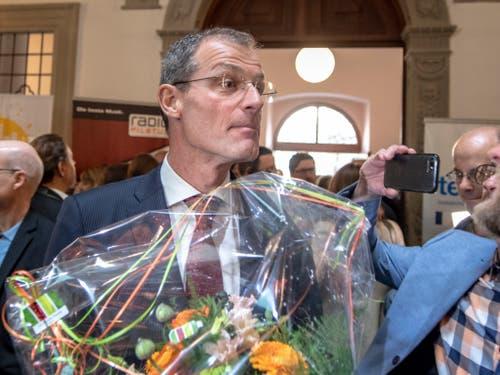 Schaffte die Wiederwahl problemlos: Bildungs- und Kulturdirektor Reto Wyss (CVP). (Bild: KEYSTONE/URS FLUEELER)