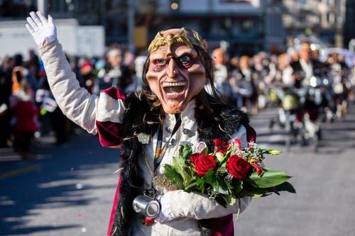 Rüsssuuger Ämme mit dem Motto 30 Jahre auf der grossen Bühne am Wey-Umzug am Montag, 4. März 2019 in Luzern.