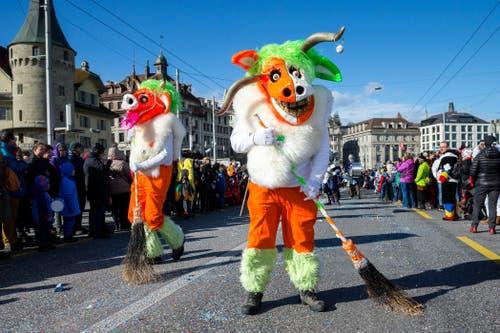 Wilde Gruppe am Wey-Umzug am Montag, 4. März 2019 in Luzern.