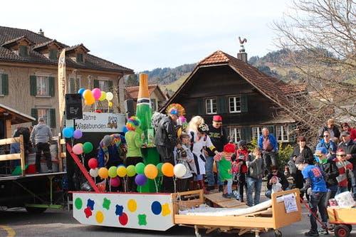 Fasnachtsumzug in Schüpfheim. (Bild: Hubert Distel, 4. März 2019)