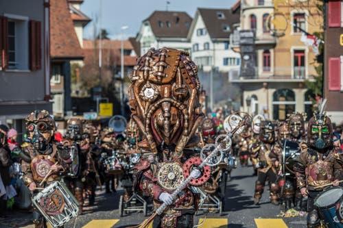 Borggeister-Musig Roteborg. (Bild: Pius Amrein, Rothenburg, 5. März 2019)