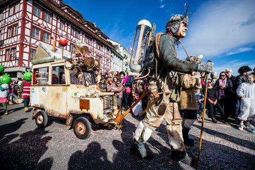 Chendermonster in der Stadt Luzern. (Bild: Philipp Schmidli, Luzern, 5. März 2019)