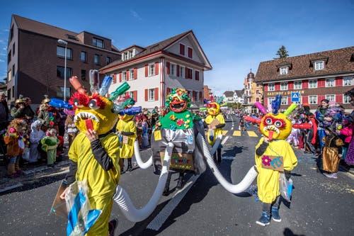 Kinderumzug in Rothenburg. (Bild: Pius Amrein, Rothenburg, 5. März 2019)