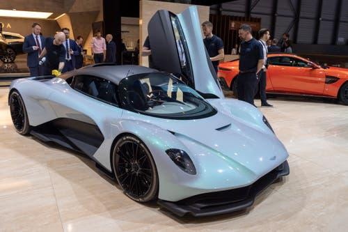 Der Aston Martin AM-RB003 (Bild: Keystone/Martial Trezzini, Genf, Pressetag 6. März 2019)
