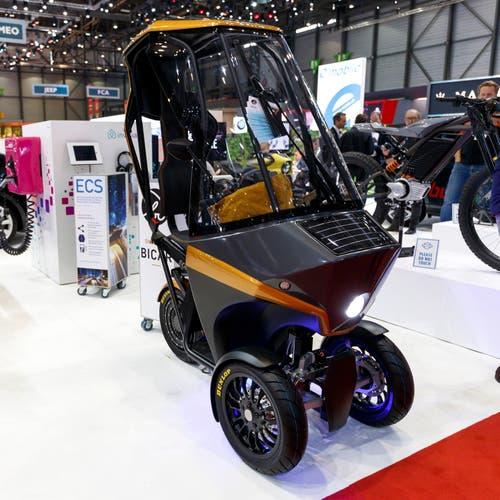 Der E'Mobile Bicar (Bild: Keystone/Cyril Zingaro, Genf, Pressetag 6. März 2019)