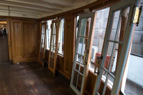 Die Türen wurden abmontiert. (Bild: Dominik Wunderli, Luzern, 11. April 2019)
