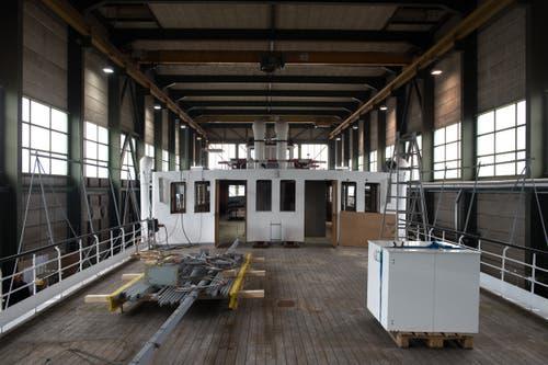 Das Dampfschiff Stadt Luzern von oben. (Bild: Dominik Wunderli, Luzern, 11. April 2019)