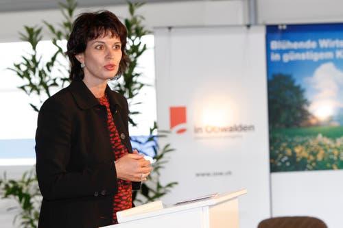 An der Eröffnung des Unternehmerzentrums MicroPark Pilatus in Alpnach. (Bild Remo Nägeli, 14. Mai 2009)