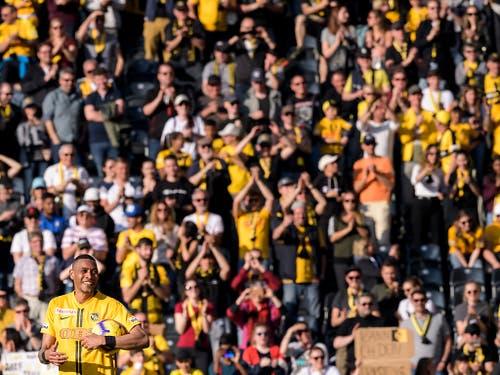 Das Publikum in Bern war für YB der zwölfte Mann (Bild: KEYSTONE/ANTHONY ANEX)